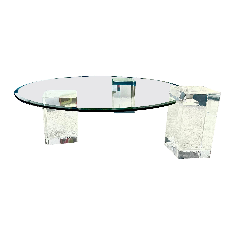 Karl Springer Lucite Coffee Table
