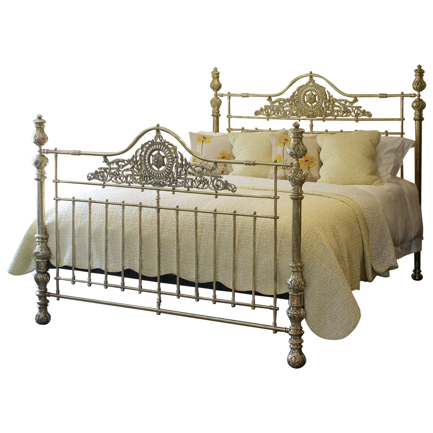 Wide All Brass Antique Bed MSK64