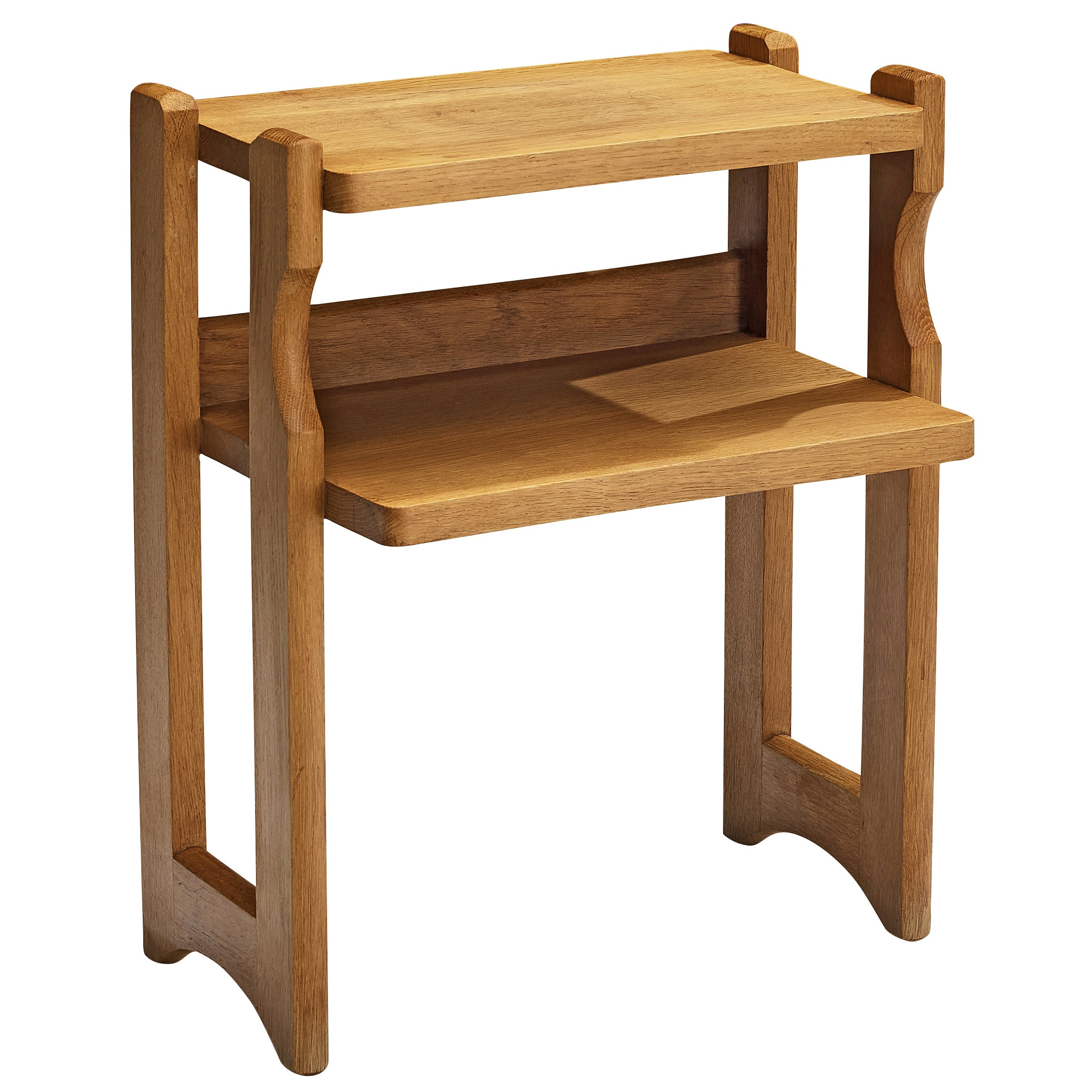 Guillerme et Chambron Small Side Table in Solid Oak