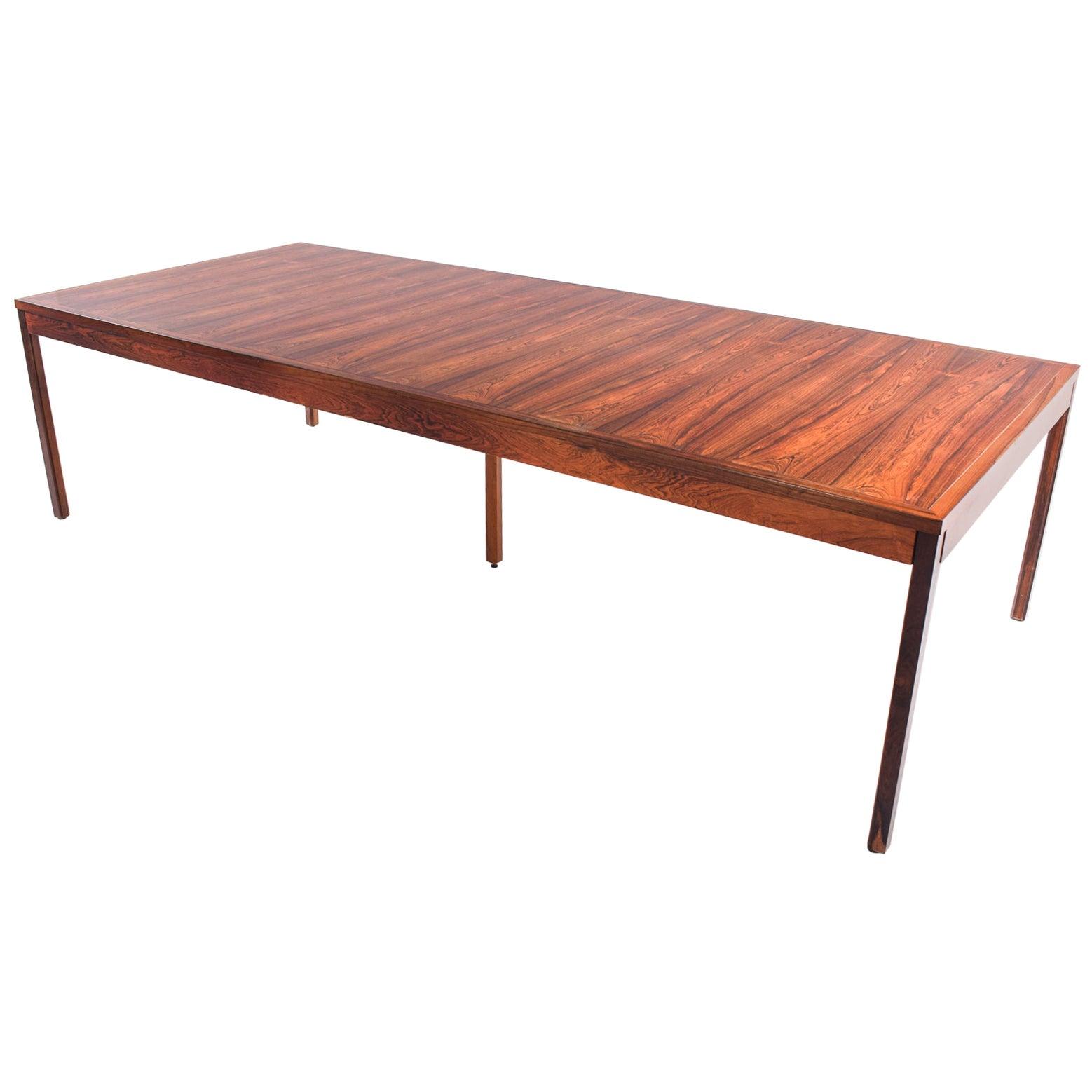 Rare Rectangular Danish Modern Conference/Dining Table, 1960