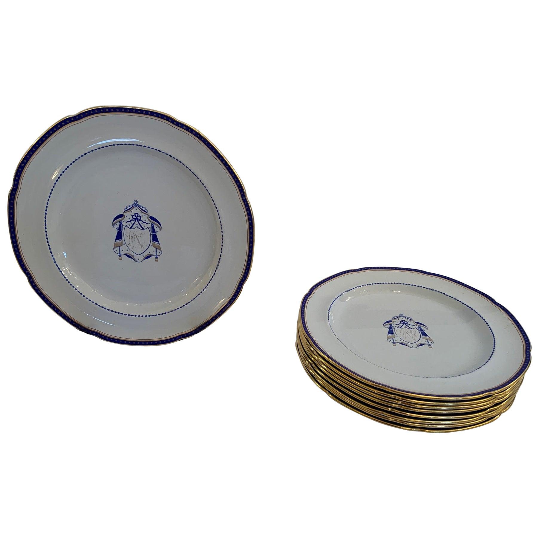 Set of 9 Antique Copeland Spode Dinner Plates