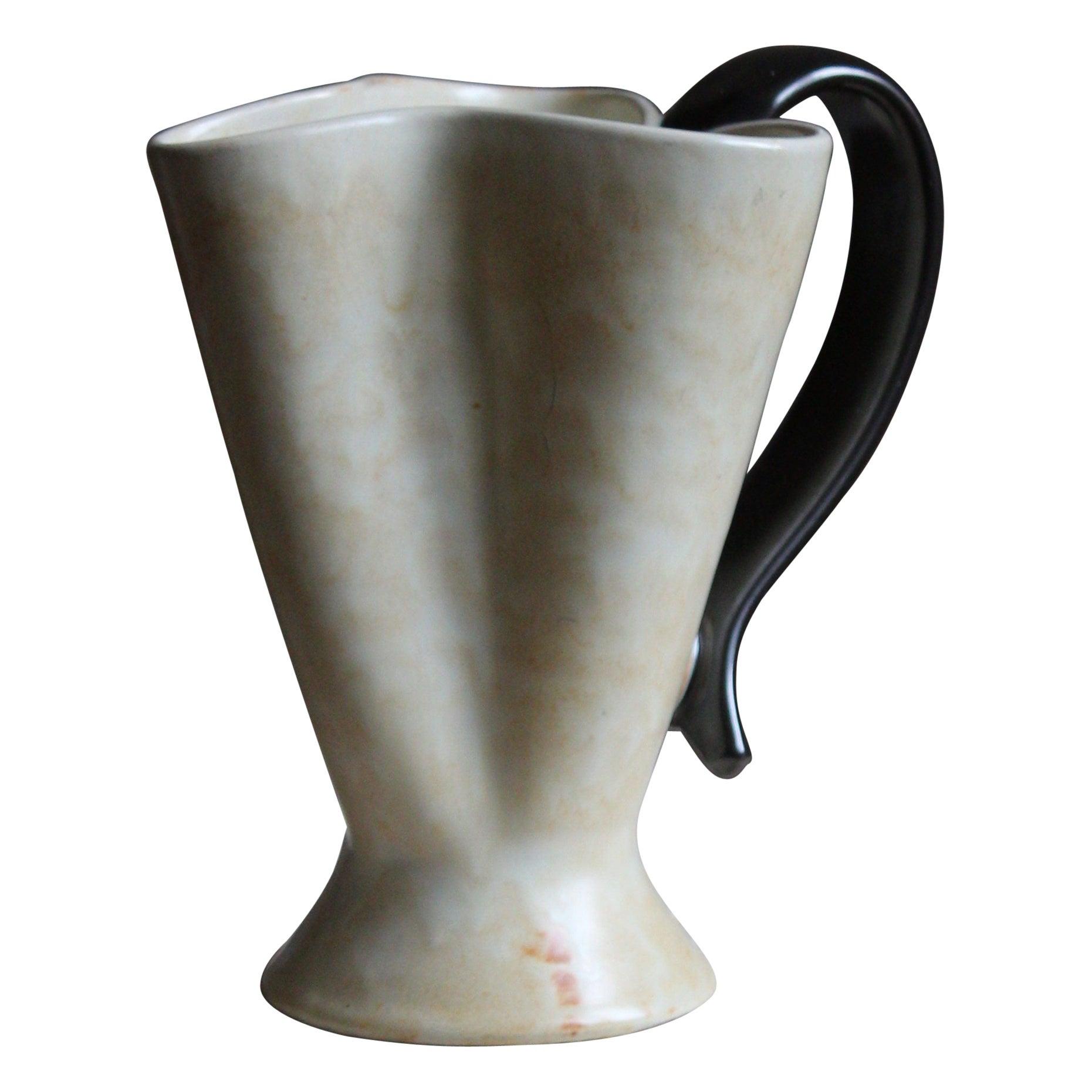 Upsala-Ekeby, Vase or Pitcher, Glazed Stoneware, Sweden, 1940s