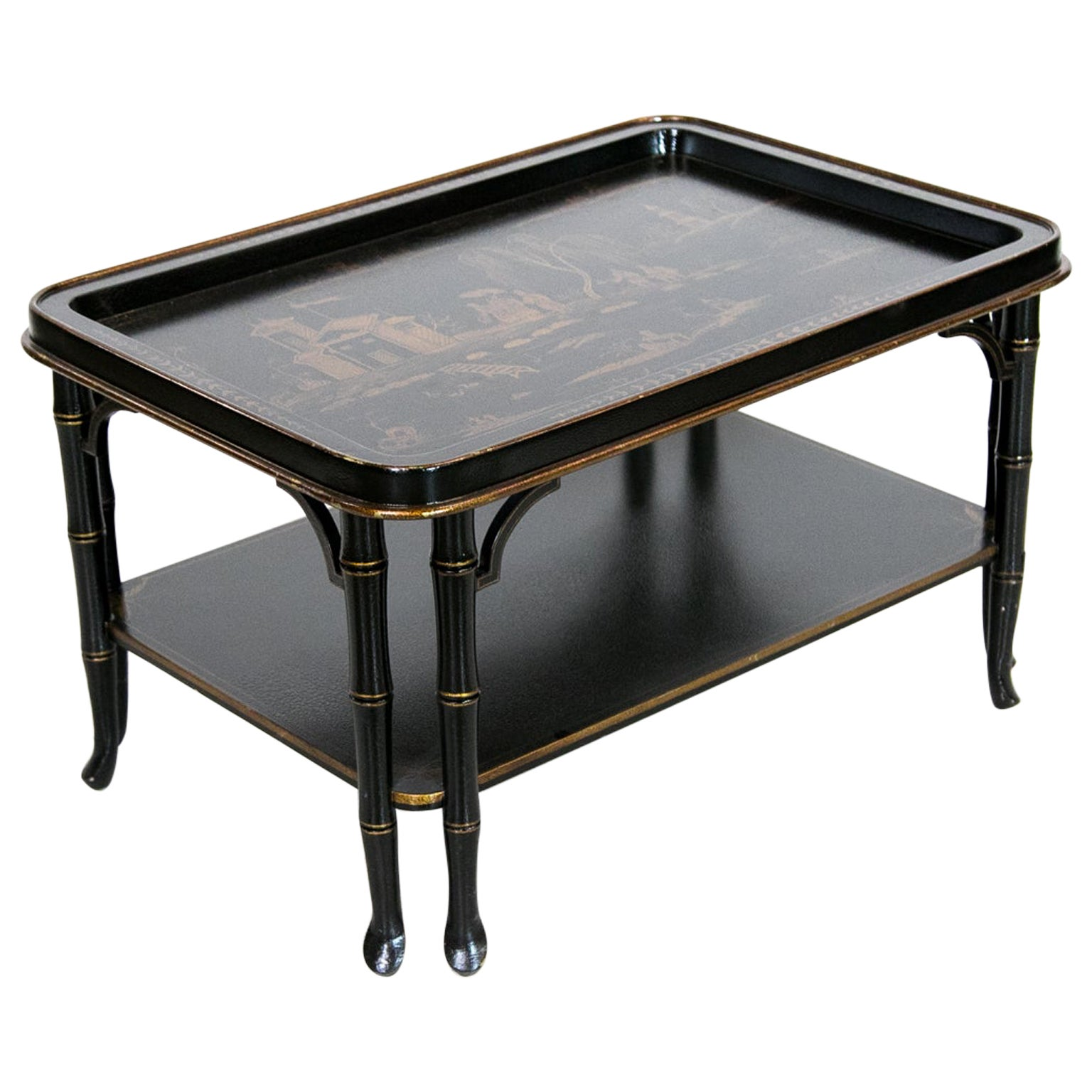 Faux Bamboo Chinoiserie Coffee Table
