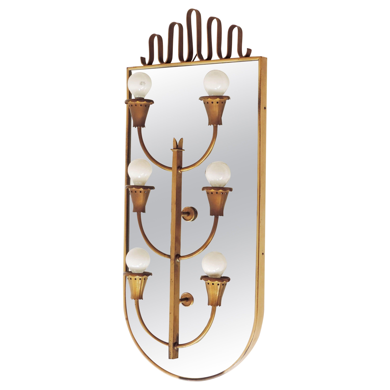 Monumental Italian 1930s Art Deco Wall Lamp