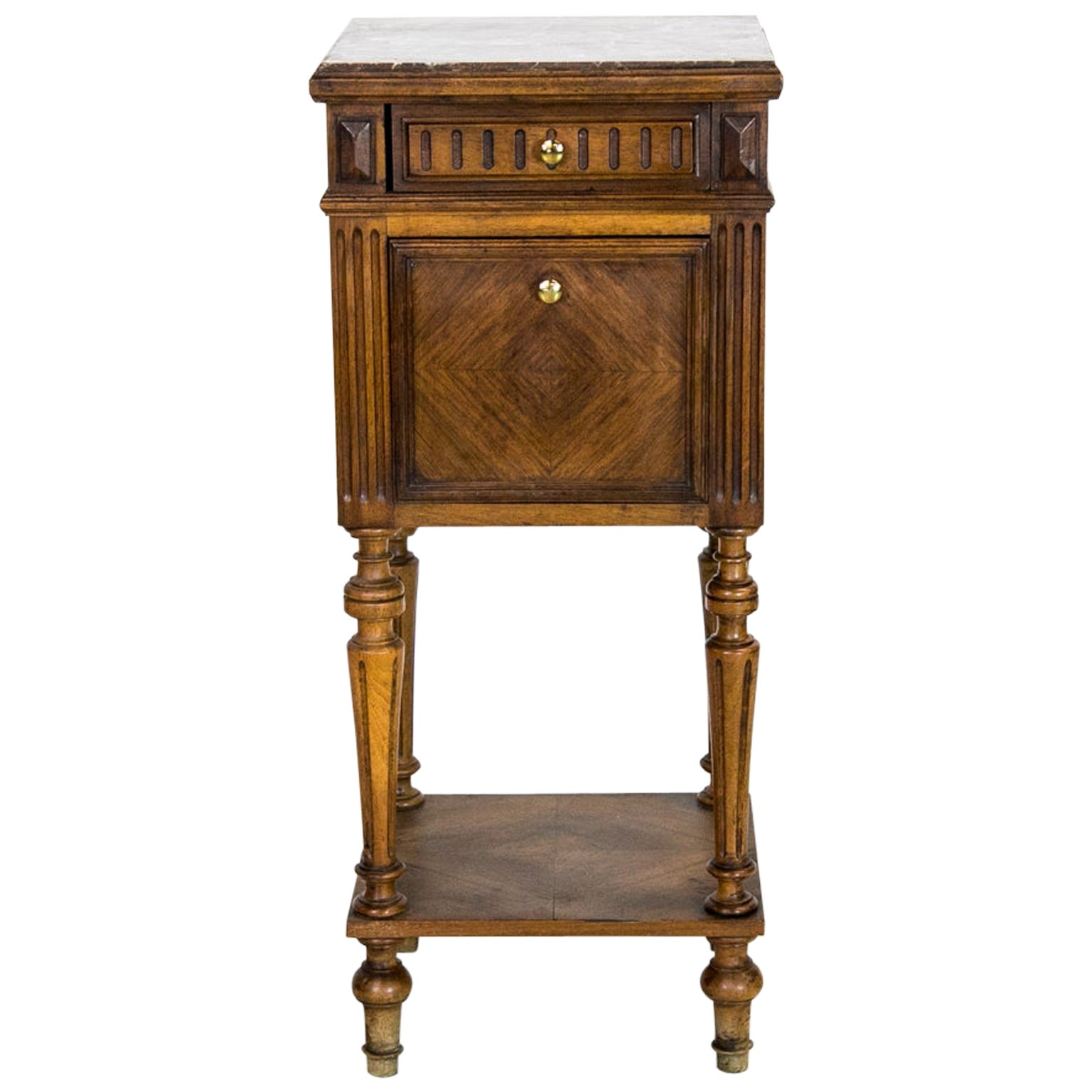 French Marble-Top Commode/Nightstand