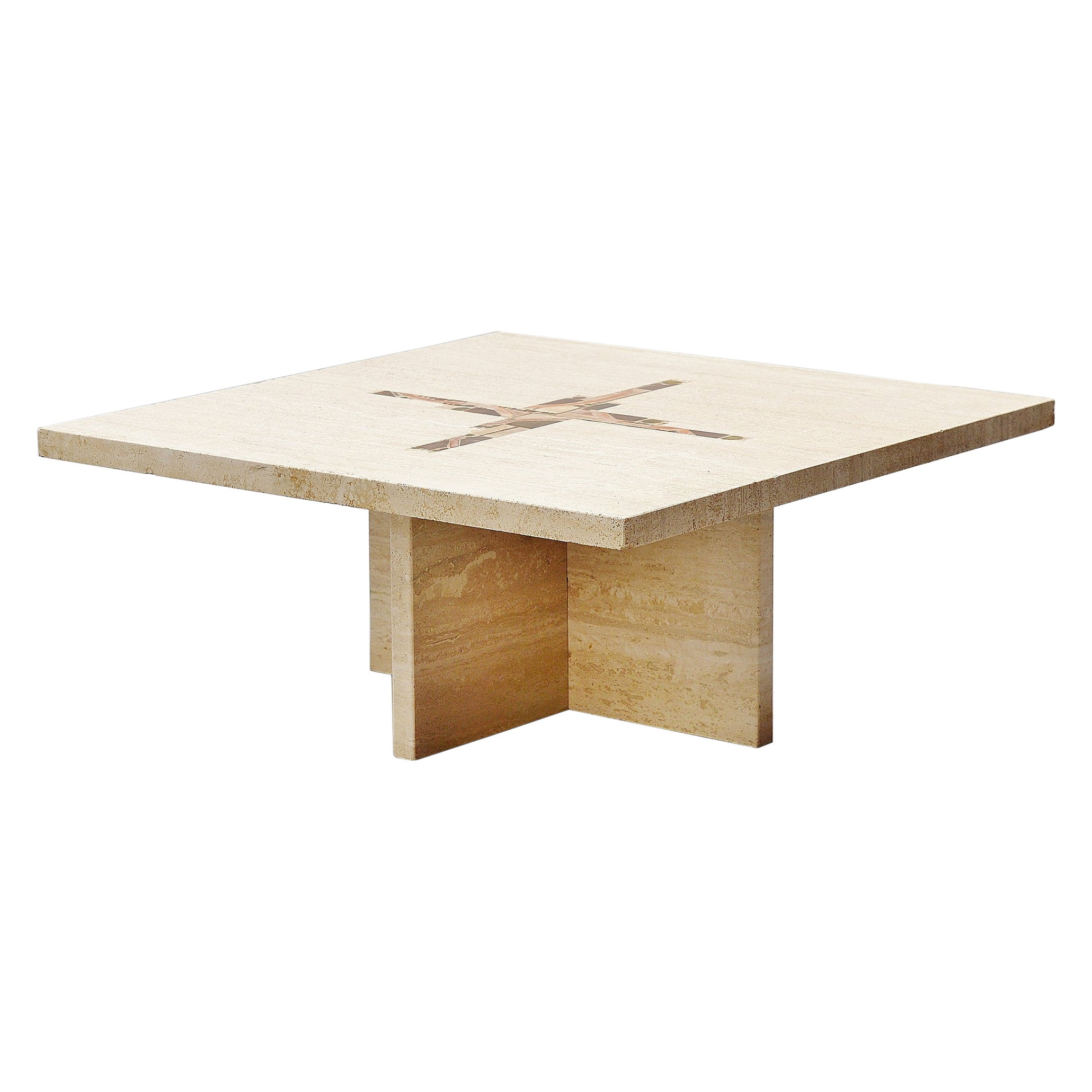 Paul Kingma Travertin Coffee Table, Holland, 1978