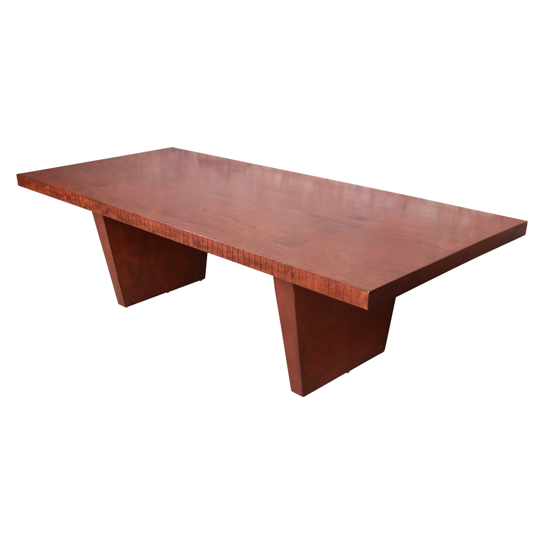 George Nakashima Style Studio Craft Solid Walnut Dining Table or Executive Desk