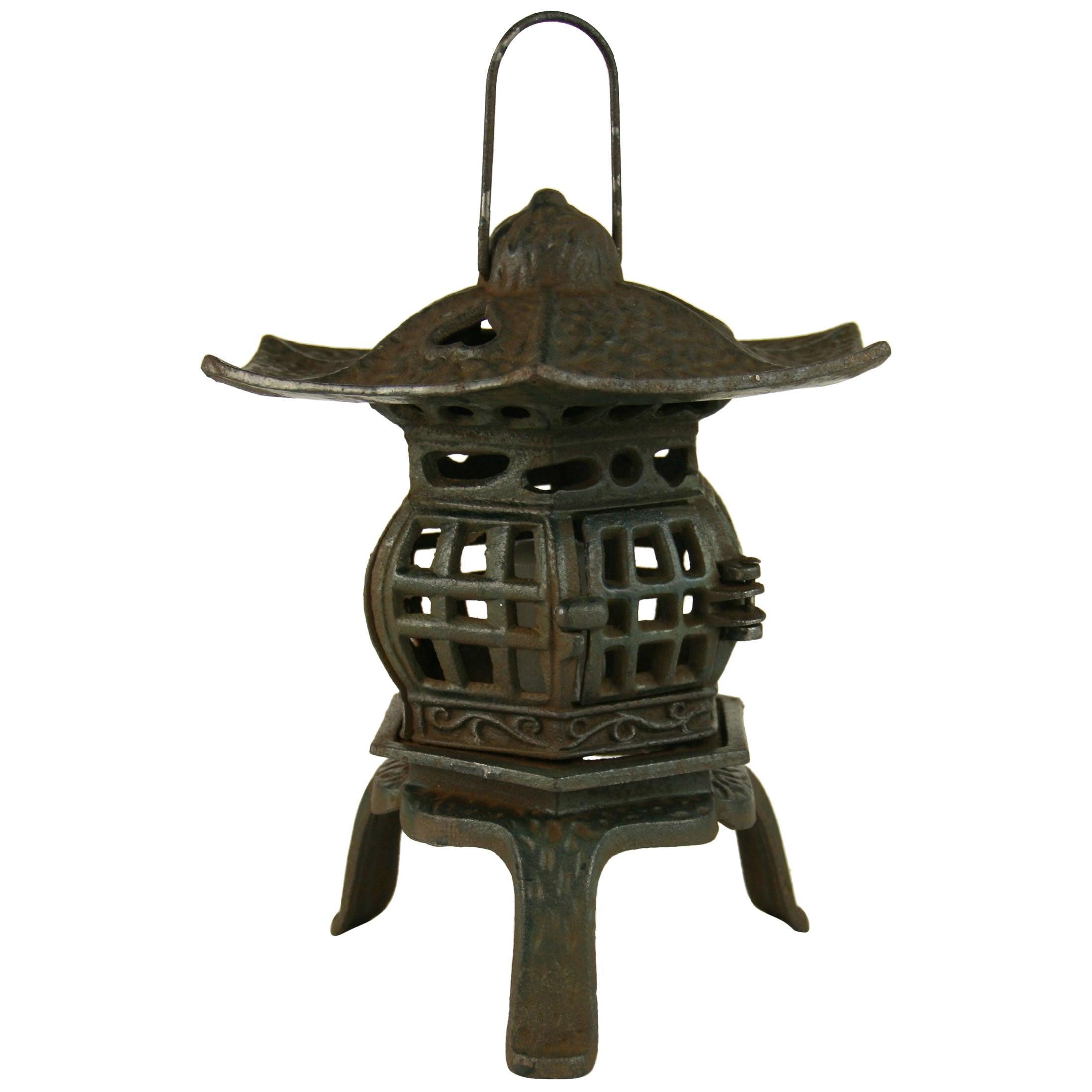 Japanese Iron Pagoda Garden Candle Lantern