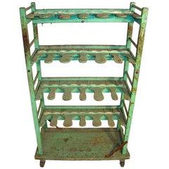 Industrial Wood Shoe Rack Shelf