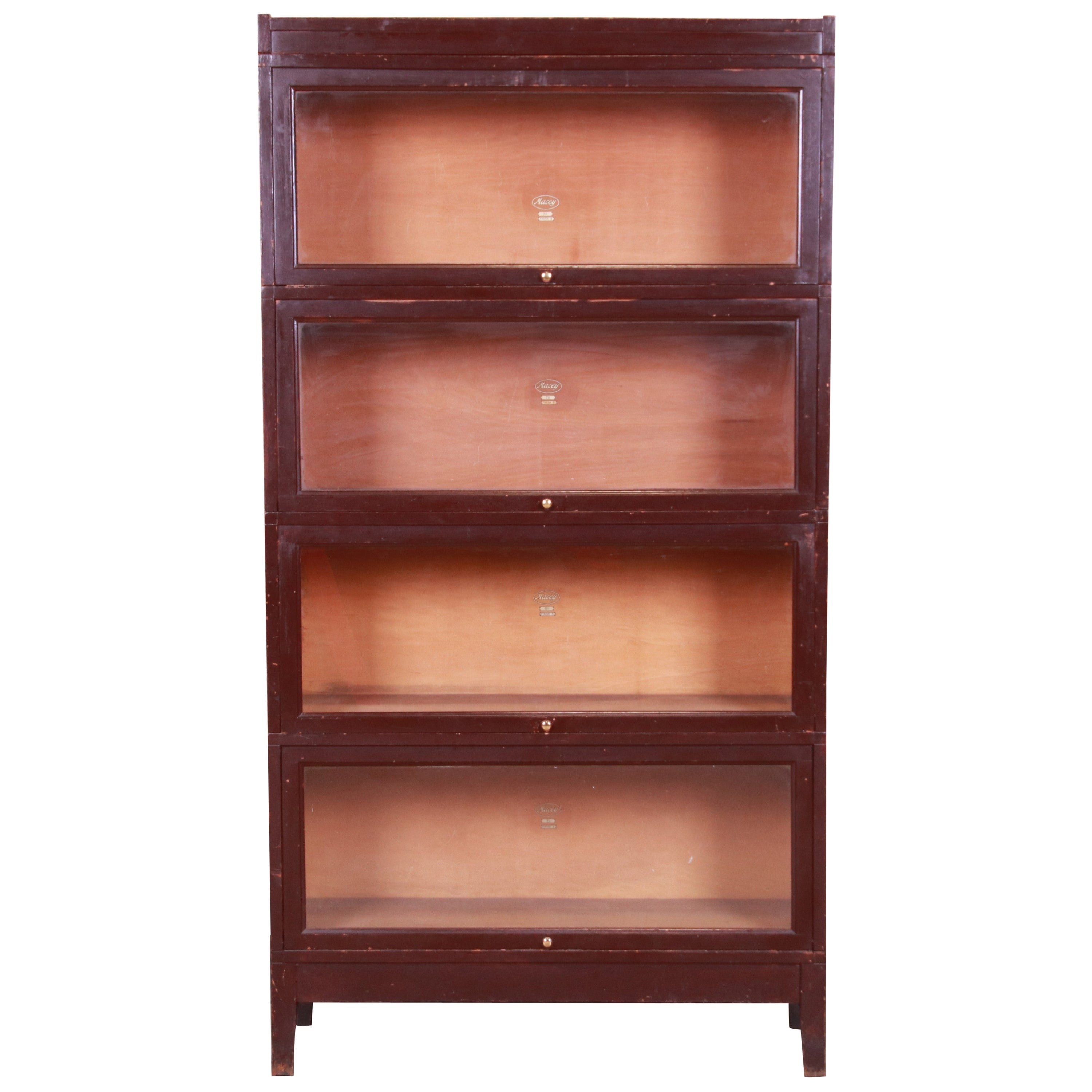 Antique Four-Stack Barrister Bookcase by Macey, Circa 1920s