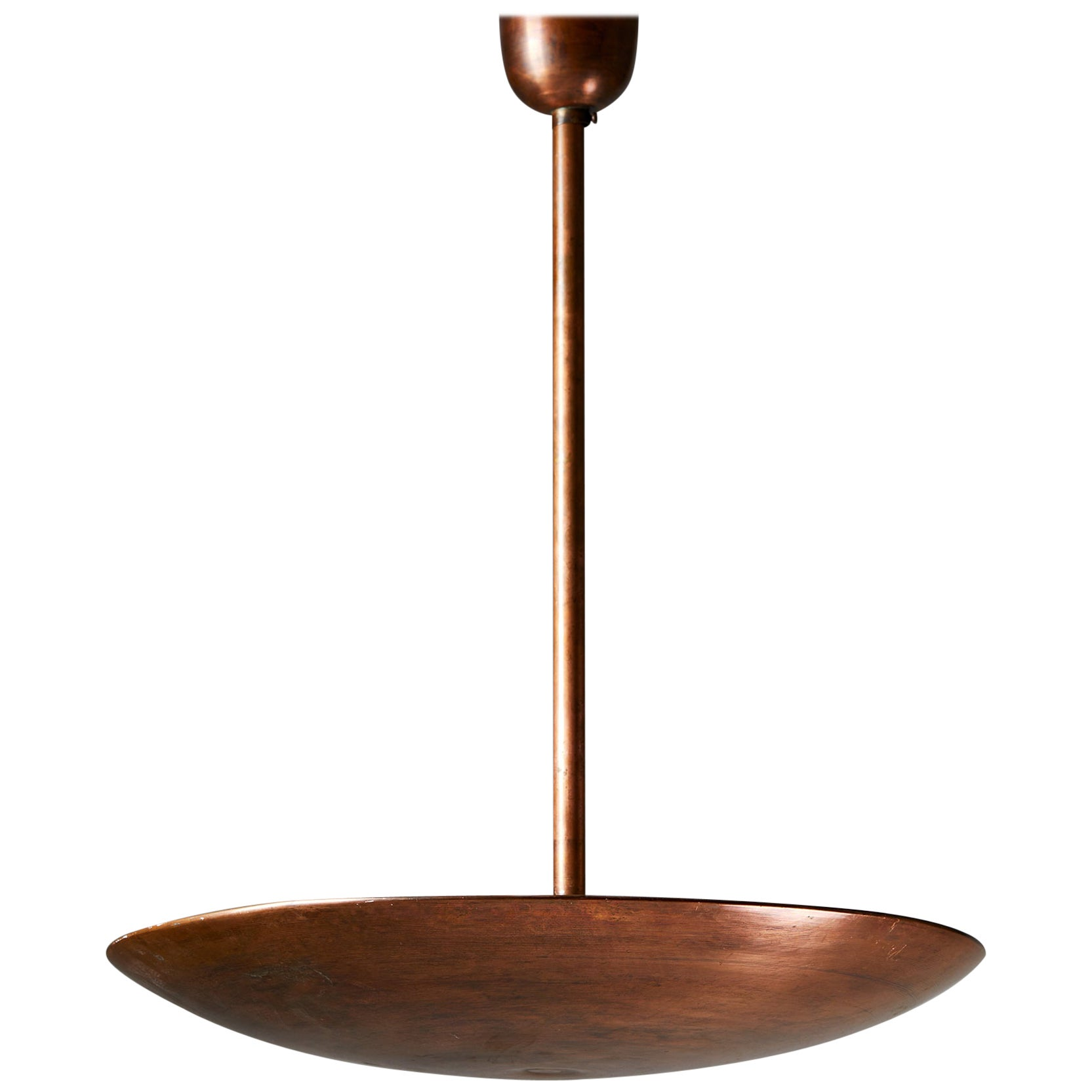 Copper Ceiling Lamp, Anonymous, Sweden, 1960's