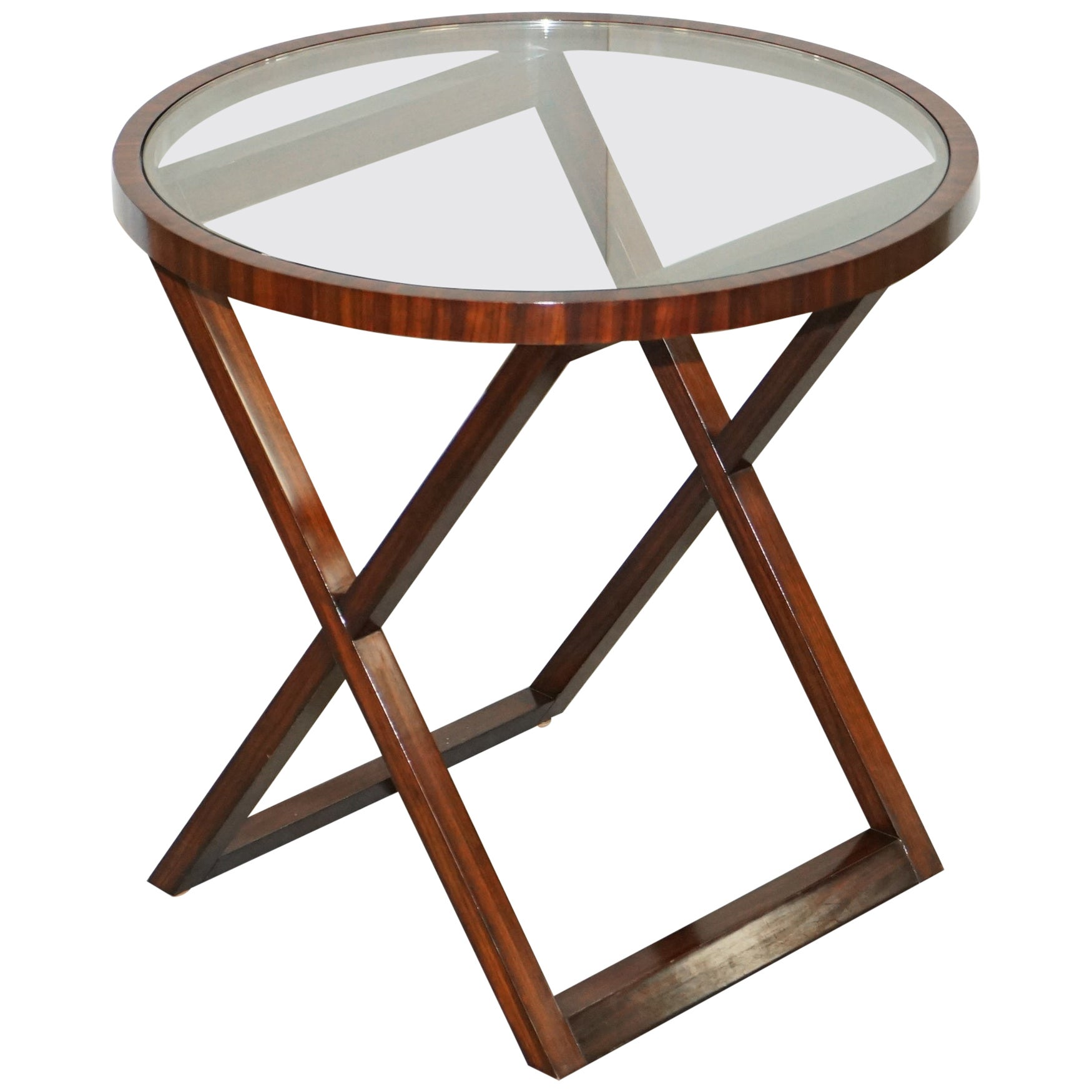 Stunning Ralph Lauren American Mahogany Round Side Table Exquisite Timber Patina