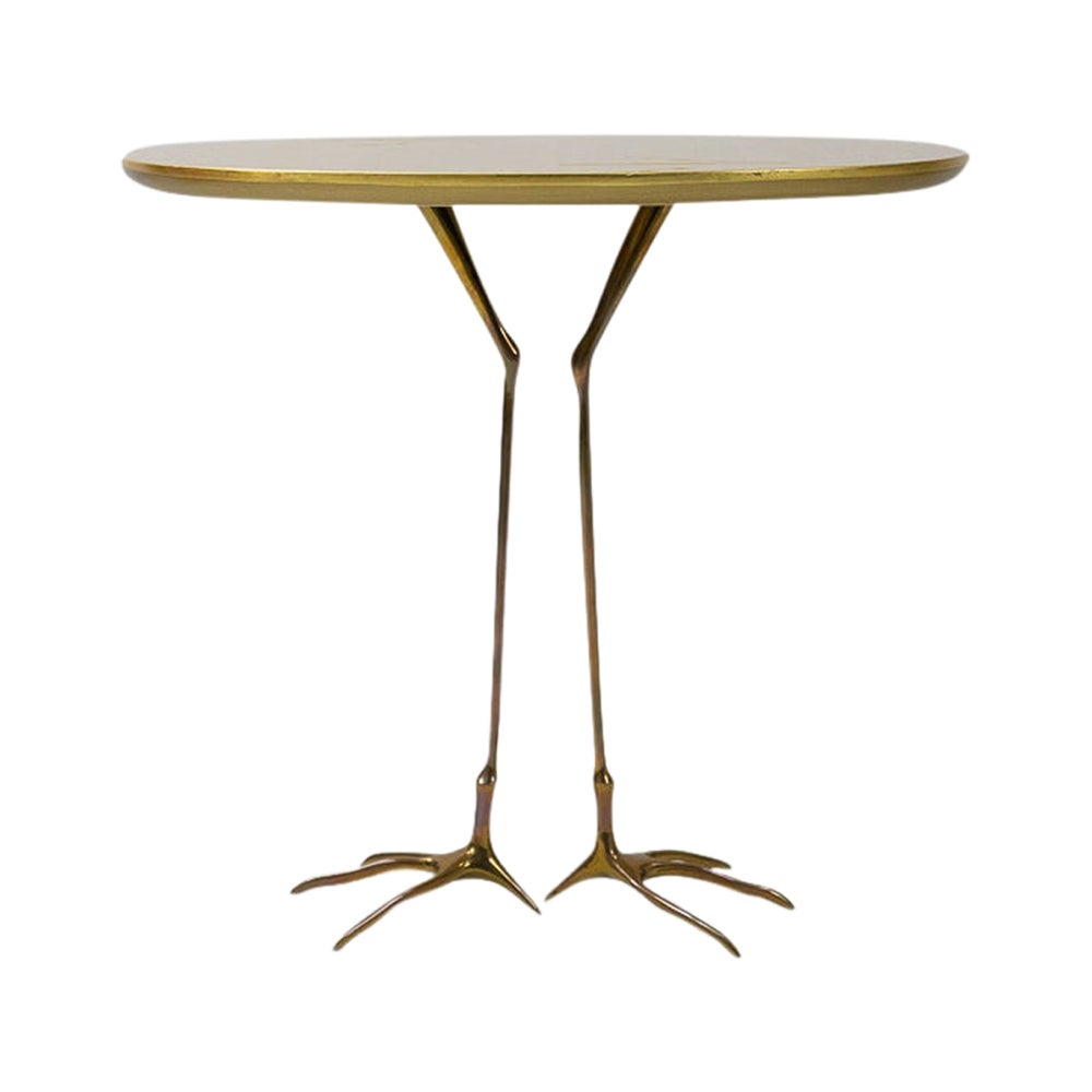 Gold Leaf Traccia Coffee Table by Méret Oppenheim, 1970s