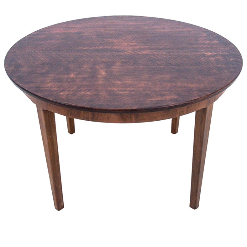 Round Teak Dining Table, Danish Design, 1960s