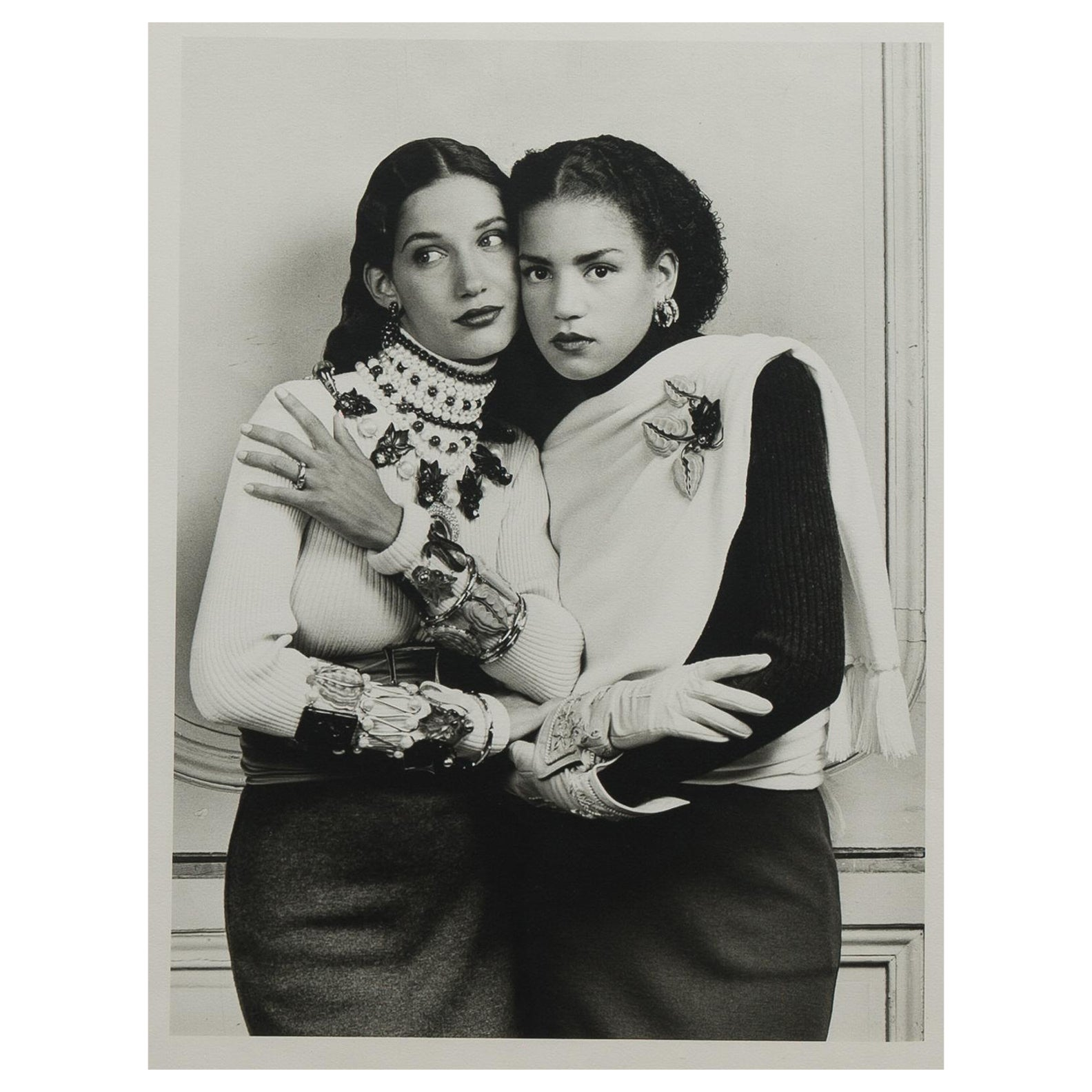 Original Photograph of Two Models by Karl Lagerfeld