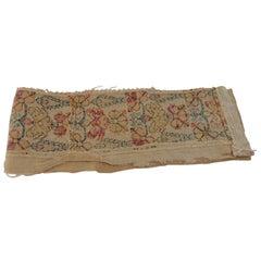 Antique Embroidered Turkish Textile Fragment