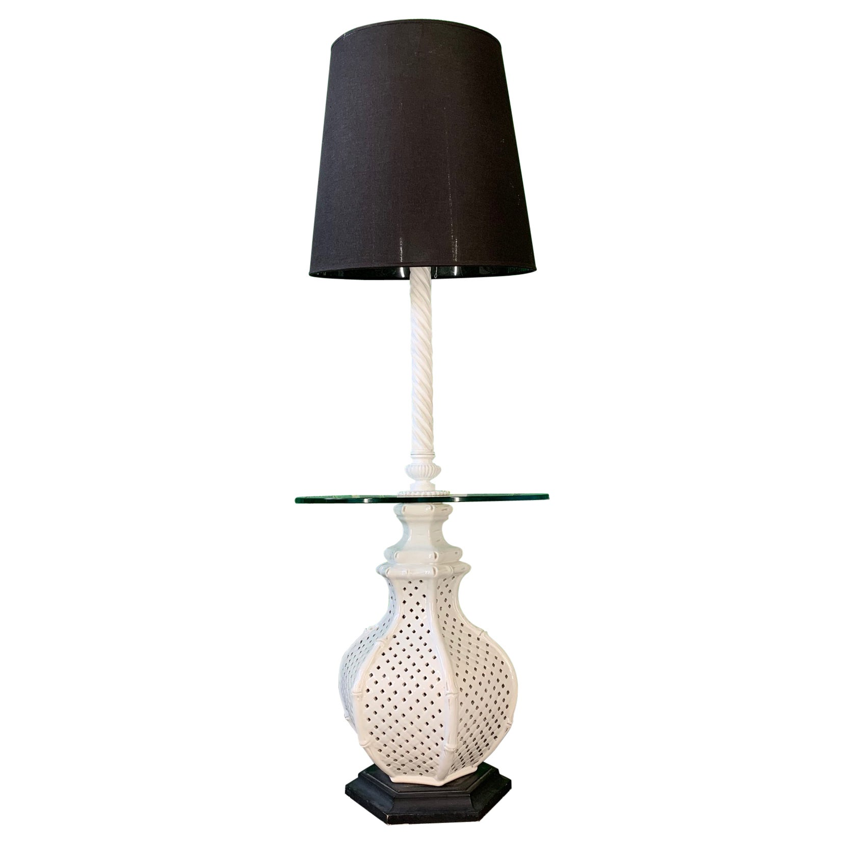 Reticulated Ceramic Floor Lamp Table by Nardini