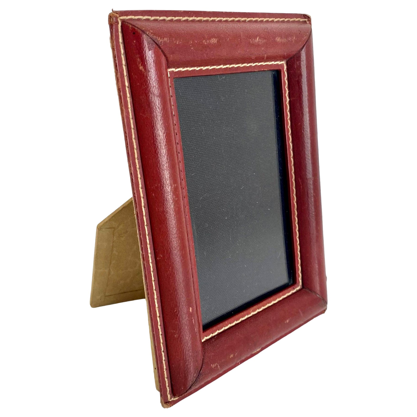 Jacques Adnet Leather Picture Frame