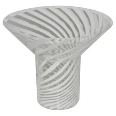 Canne Technique Murano Vase by Fratelli Toso