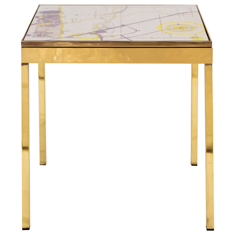 Iris London III Brass Bedside Table by Allegra Hicks