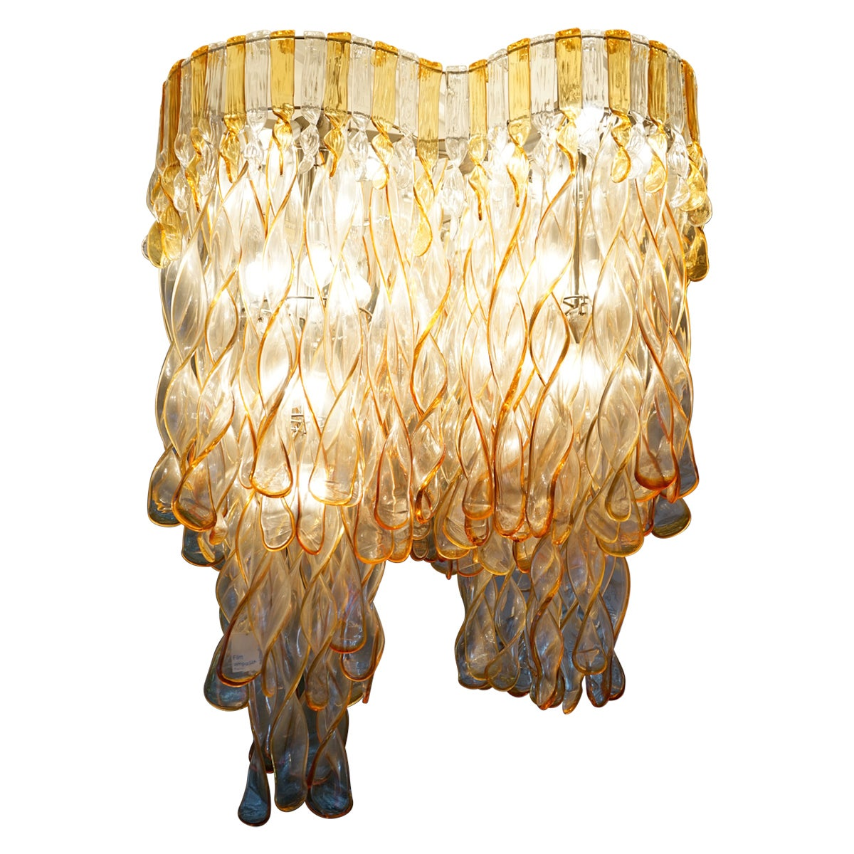 Important Large Chandelier Elica Model  by Aureliano Toso Murano 1960 - 70