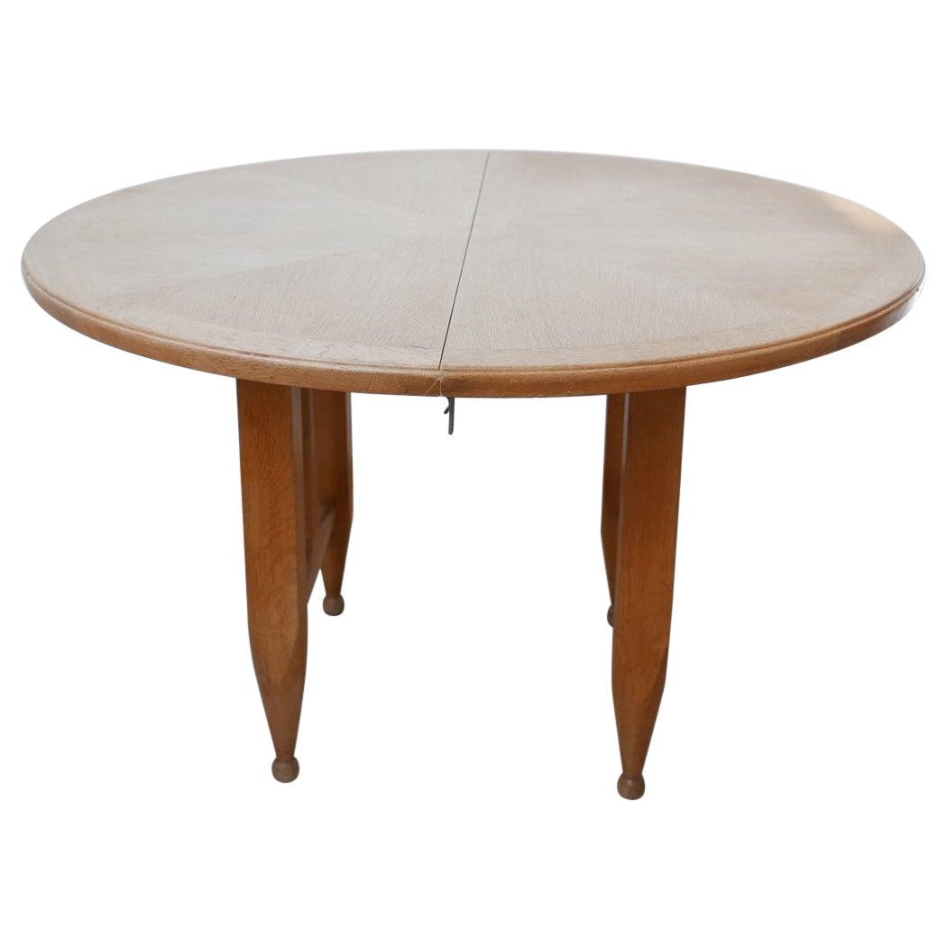 Guillerme et Chambron Oak Circular Extendable Dining Table