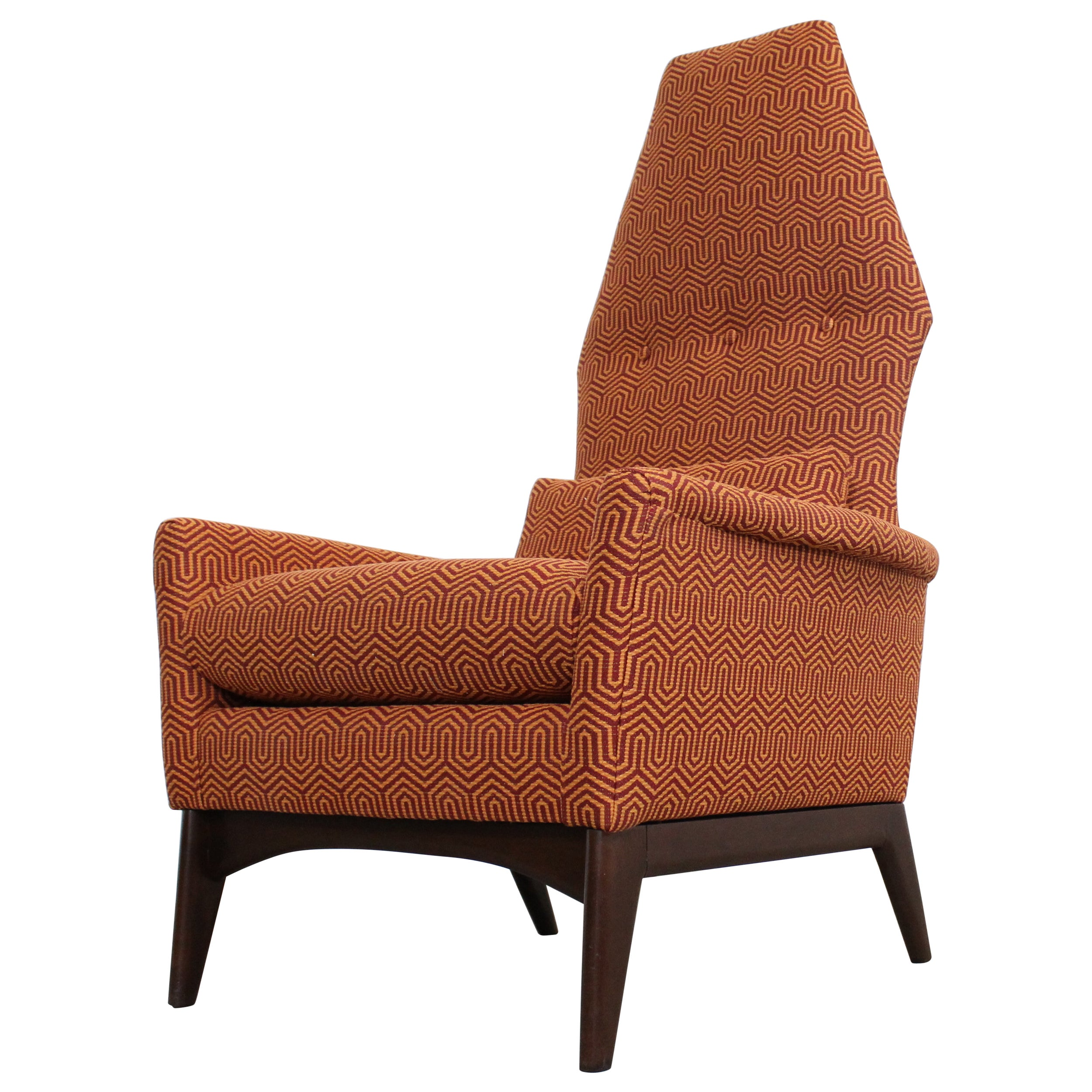 """Adrian Pearsall High Back Lounge/ Accent  Chair Crypton """"Mambo Jive"""""""