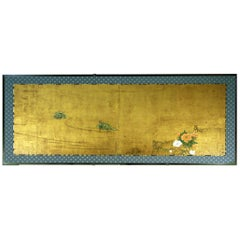 18th Century Furosaki Japanese Folding Screen Two Panels