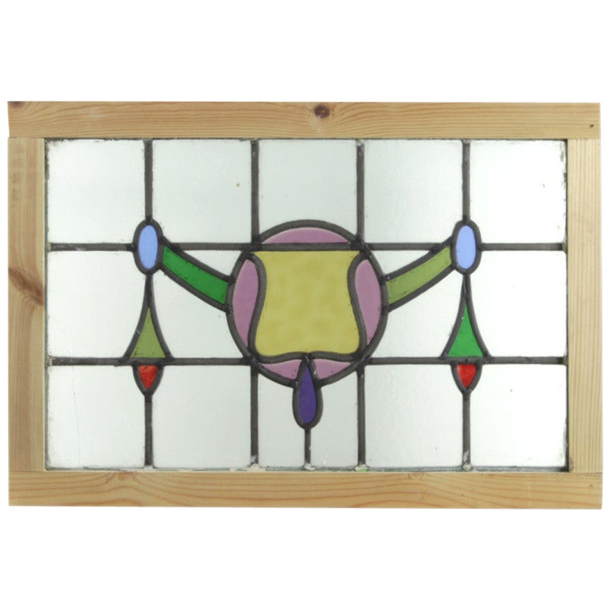 Reclaimed Leaded Stained Glass Panels, 20th Century