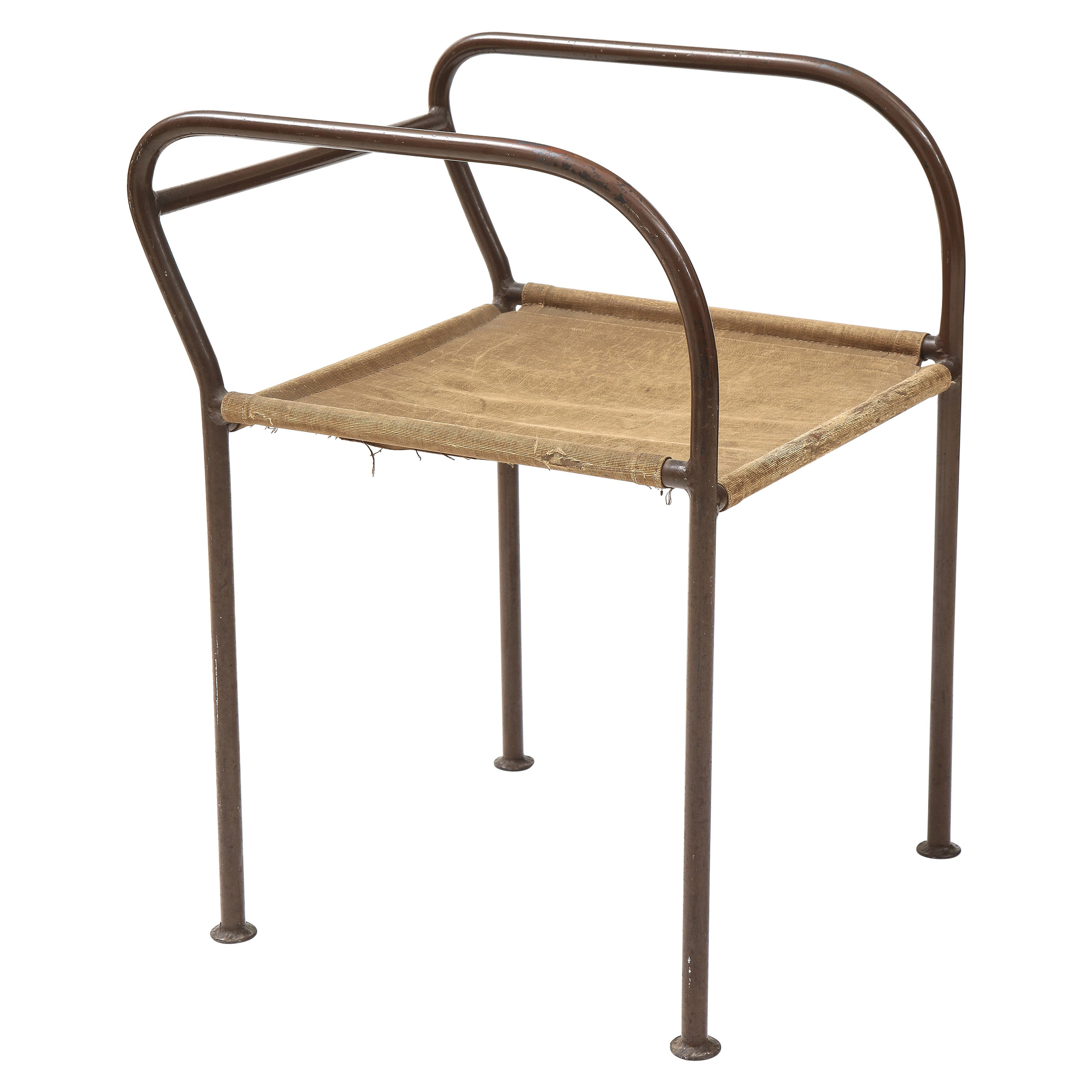 French Metal Modernist Chair / Stool, France, c. 1930