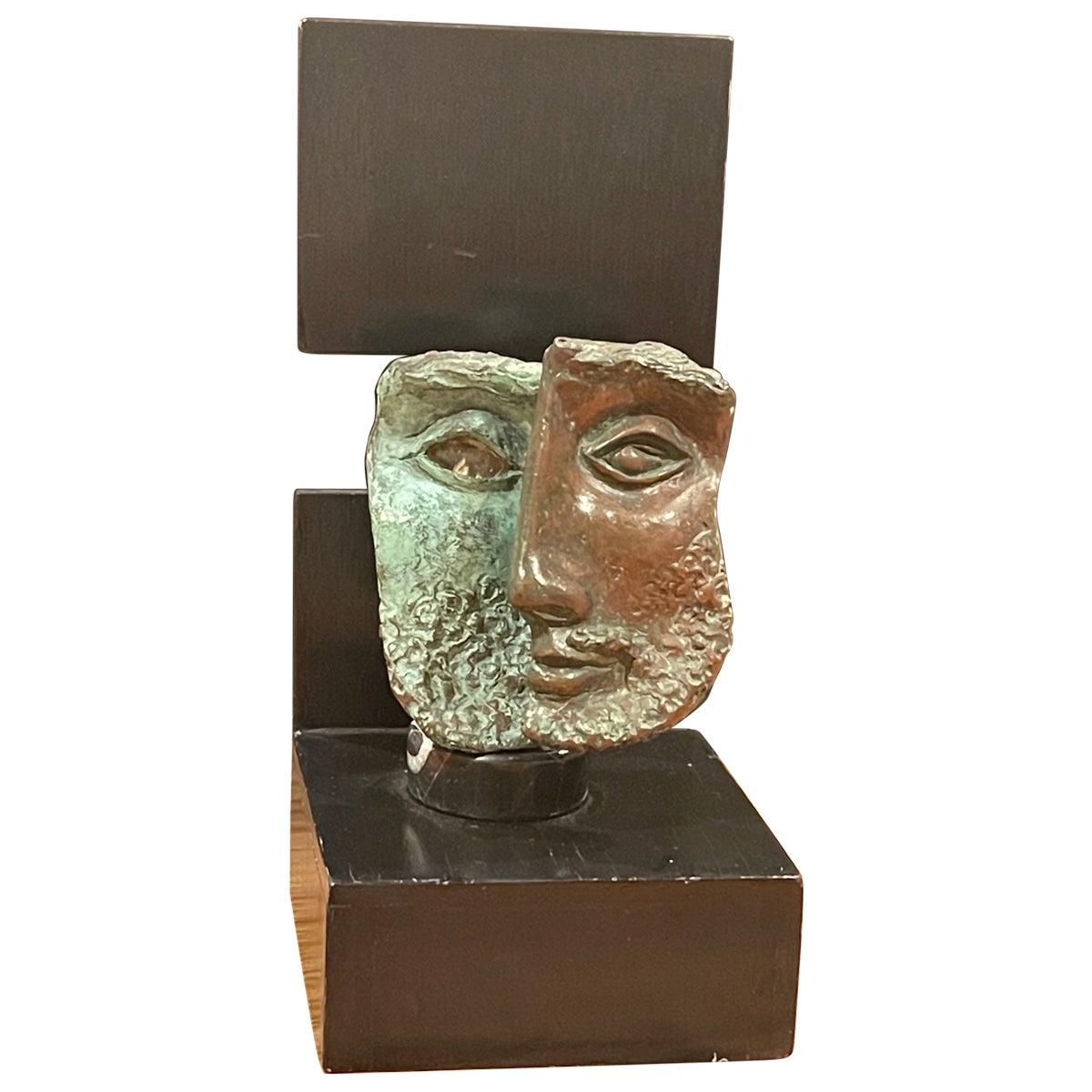 Modernist Patinated Bronze Sculpture