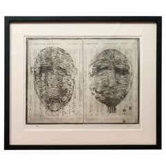 Embossed Etching by Goldie '#3'