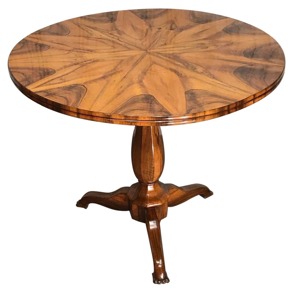 Small Biedermeier Table, South German 1820, Walnut