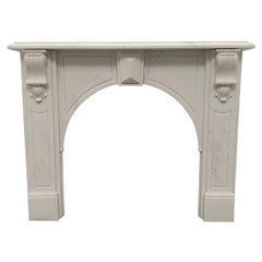 20th Century Victorian Corbel Marble Fireplace