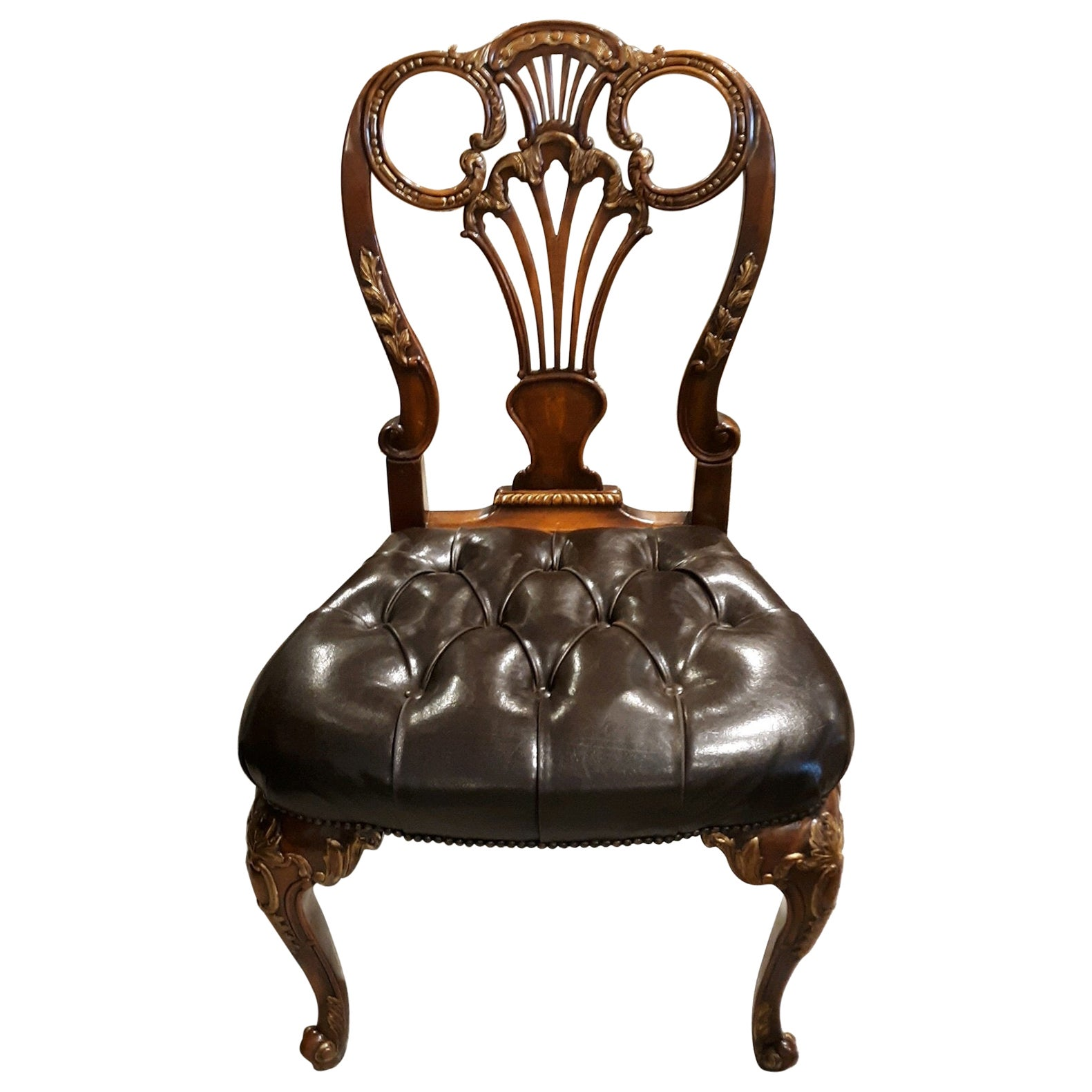 Set of 10 Theodore Alexander Regency Style Dining Chairs