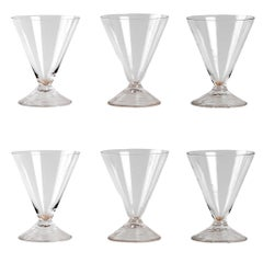 René Lalique Set of 6 Arbois Glasses
