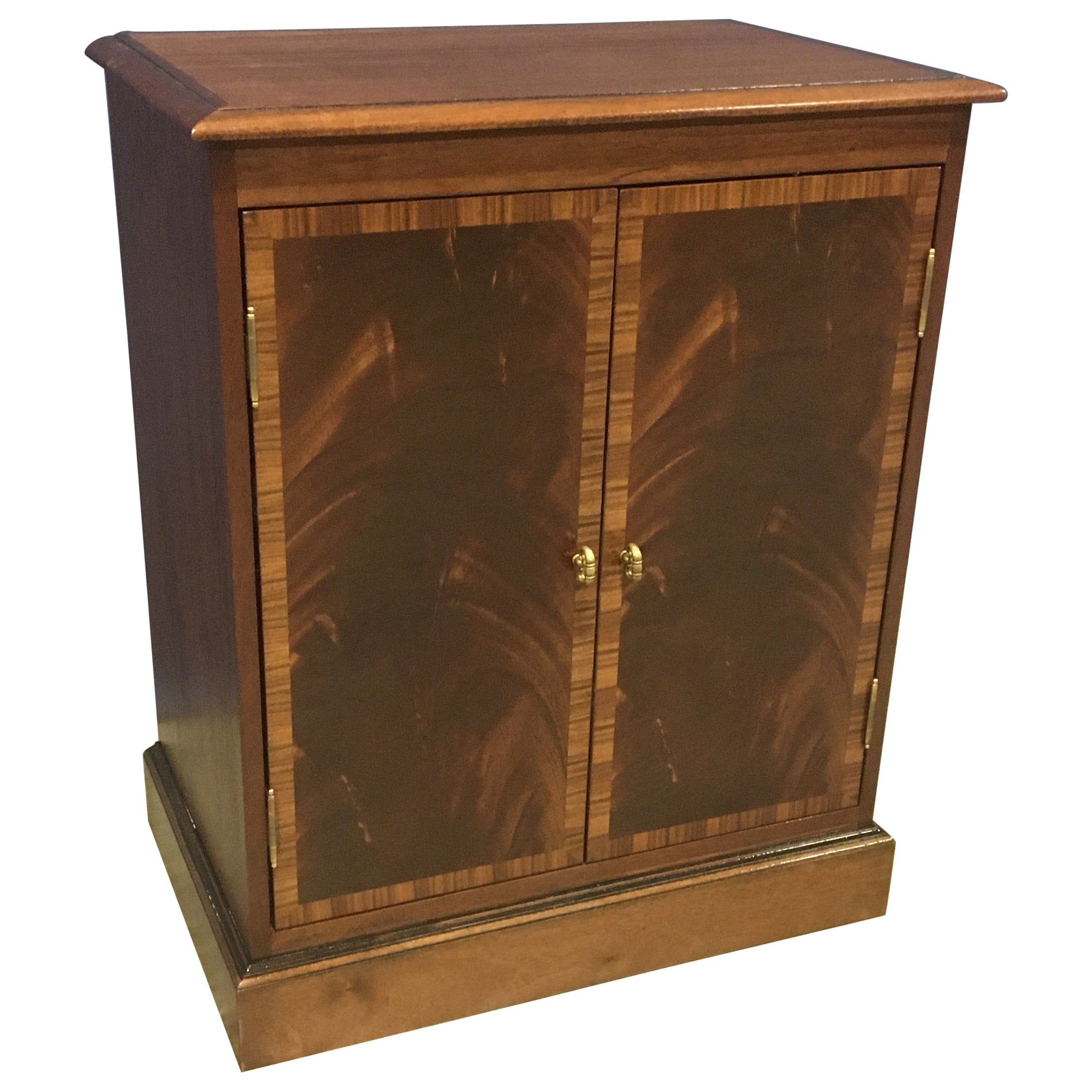 Mahogany Georgian Style Two-Door Cabinet by Leighton Hall