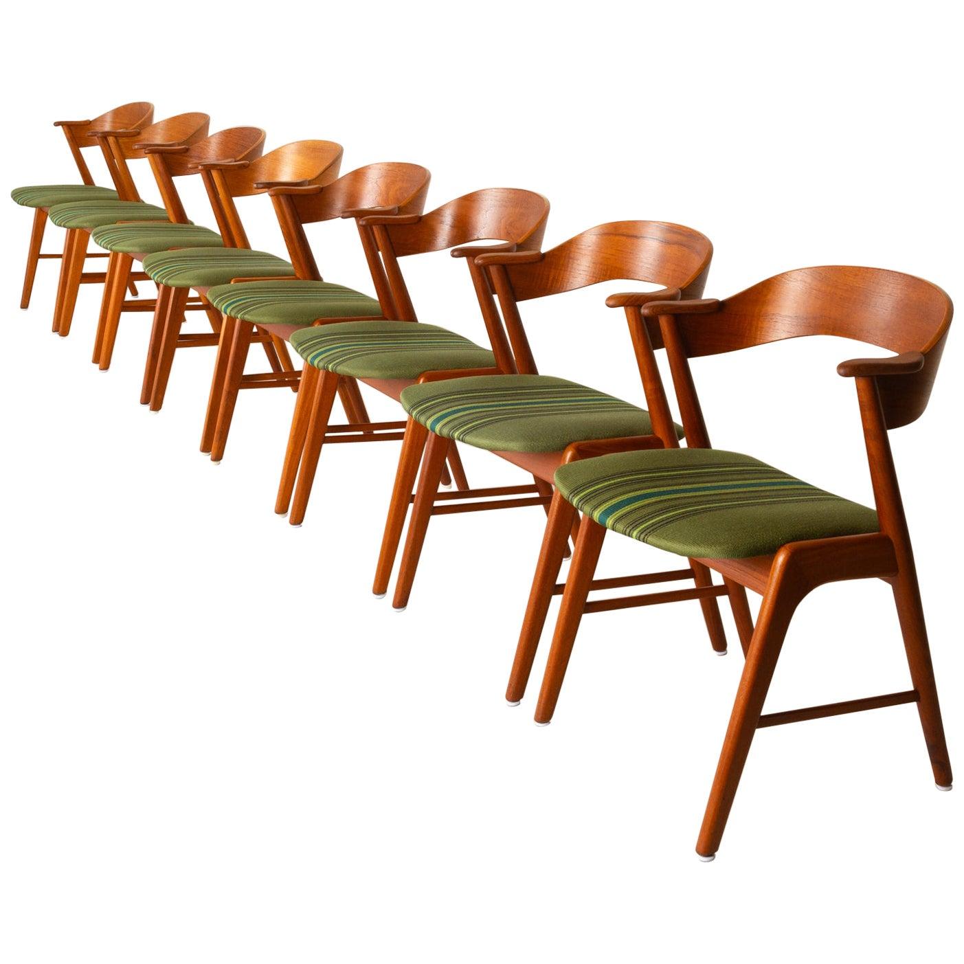 Vintage Danish Teak Dining Chairs by Korup Stolefabrik 1960s Set of 8