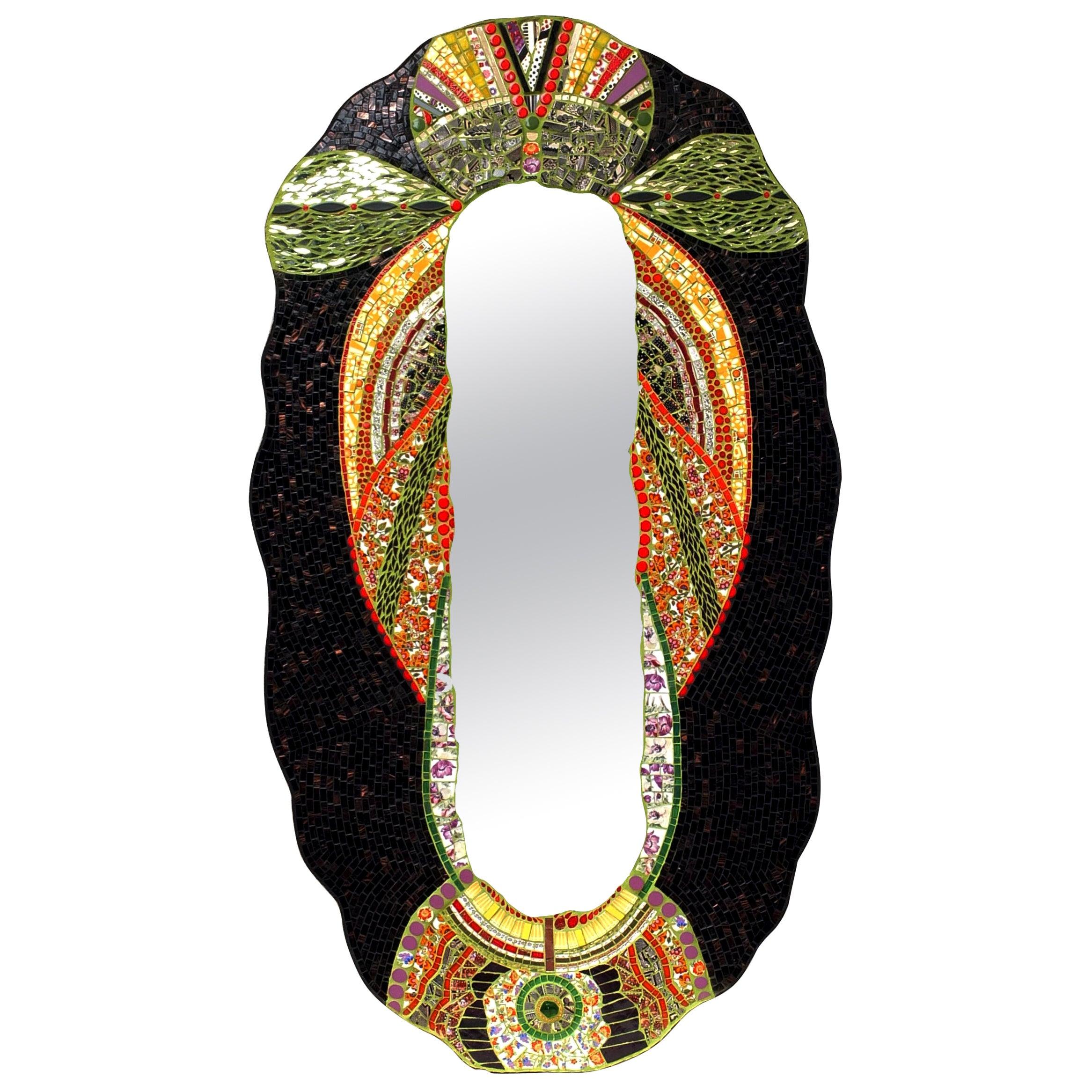 Mosaic Art Deco Style Mirror, France