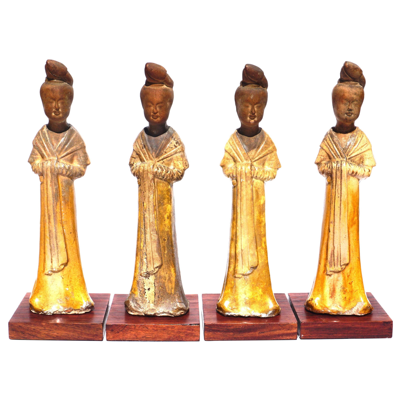 Tang Dynasty Sancai Glazed Terracotta Courtesan Ladies