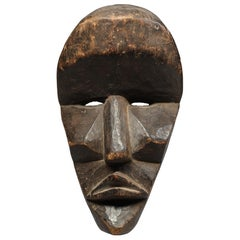 Very Large Strong Expressive Cubist Dan Mask Early 20th Century Liberia, Africa