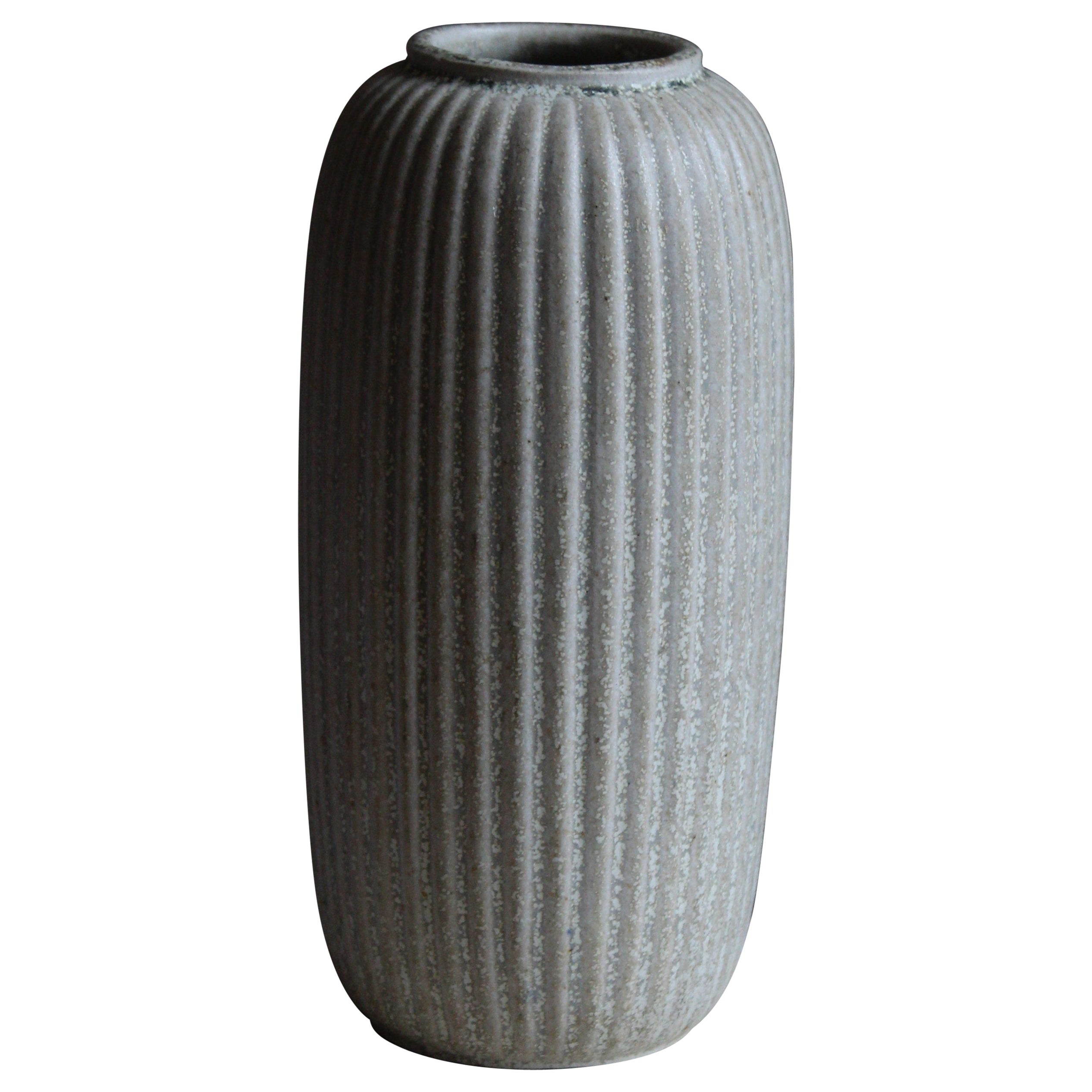 Arne Bang, Sizable Vase, Grey Glazed Stoneware, Studio, Denmark, c. 1927