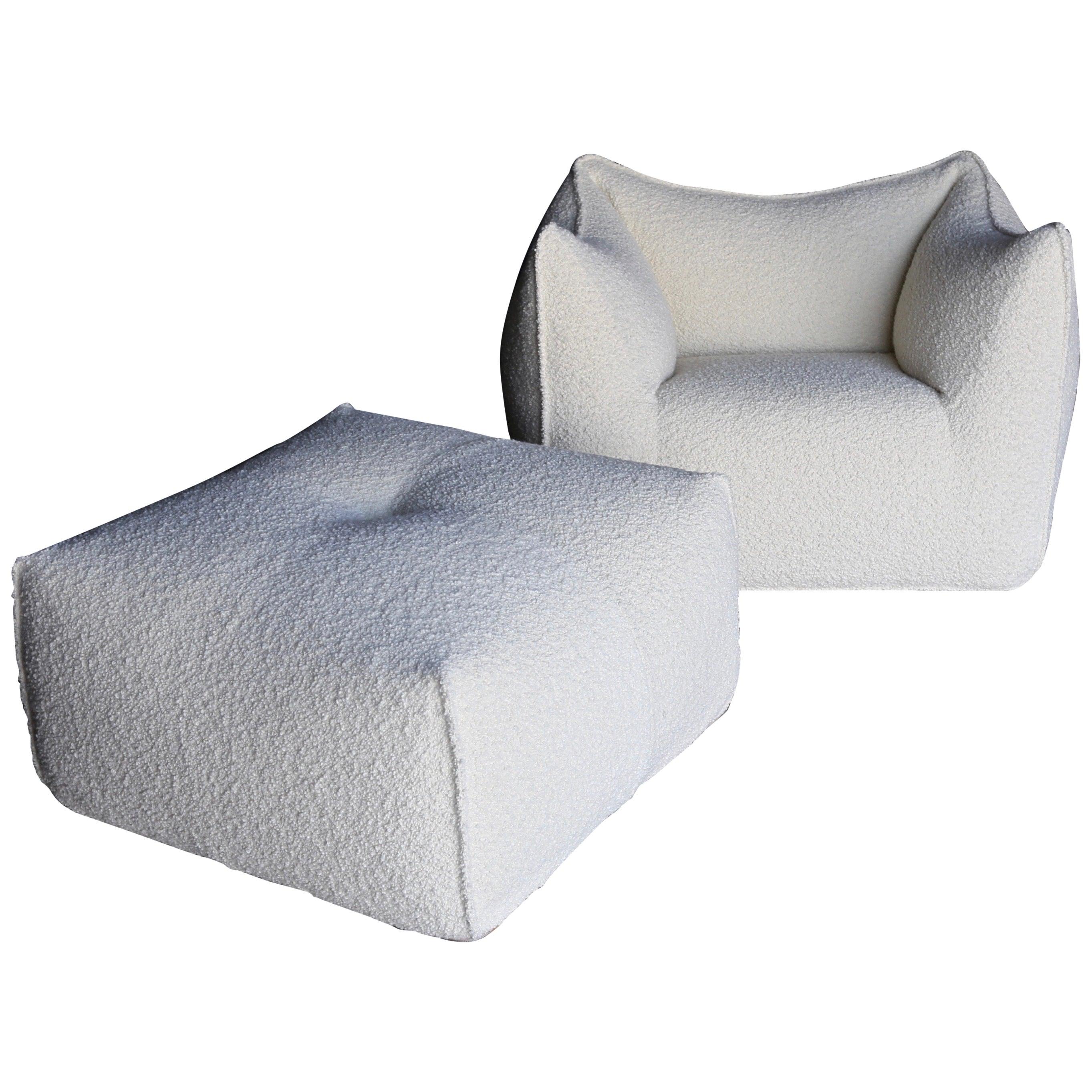 "Mario Bellini ""Le Bambole"" Lounge Chair & Ottoman for B&B Italia"