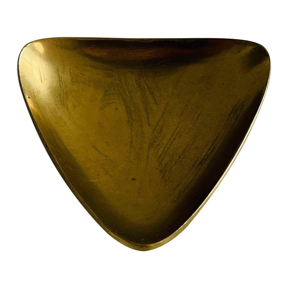 Carl Auböck II Vintage Signed Brass Bowl Ash Tray, Austria, 1950s