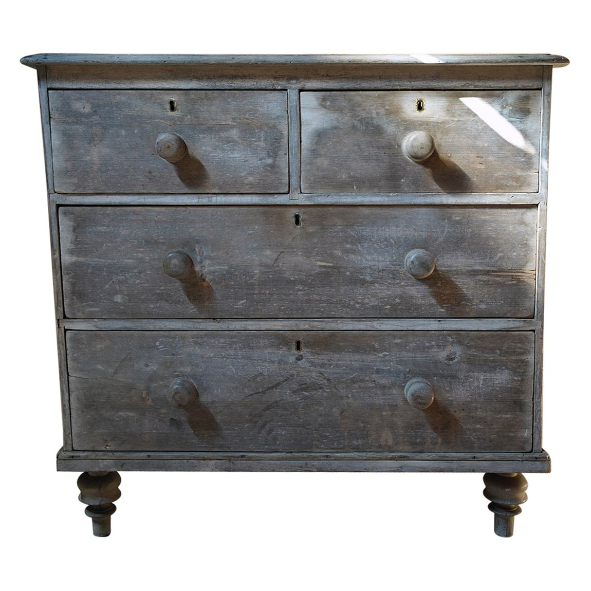 Late 19thC Bleached Pine Chest of Drawers, c.1900