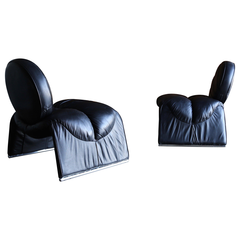 Vittorio Intrioni Lounge Chairs for Saporiti, circa 1970