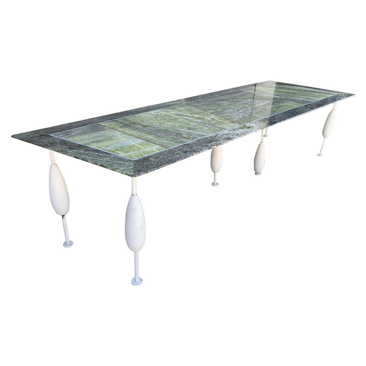 Asymmetrical Marble Table by Sema Topaloglu
