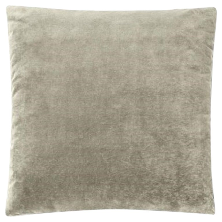 Molteni&C Square Decorative Cushion Light Grey Velvet