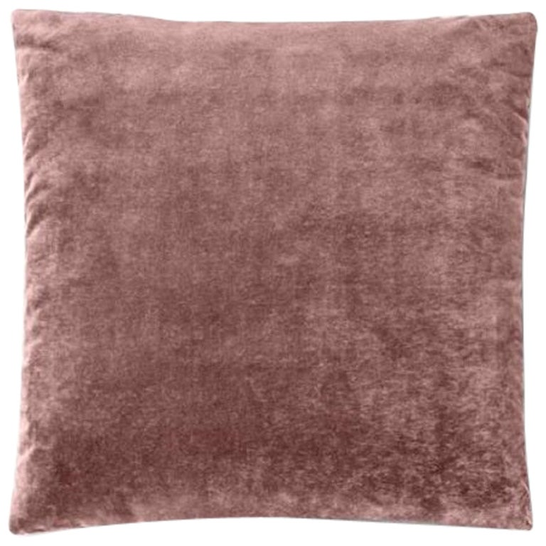 Molteni&C Square Decorative Cushion Pink Velvet
