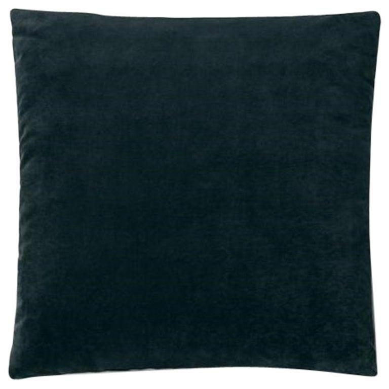Molteni&C Square Decorative Cushion Dark Blue Velvet